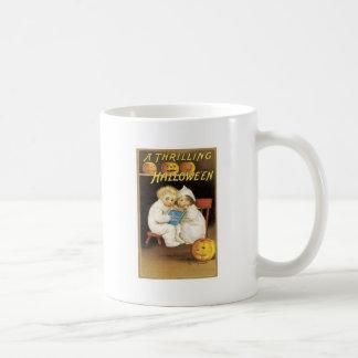 Halloween Painting of Children Reading Ghost Story Coffee Mug