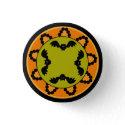 Halloween Paisley Bat Button button