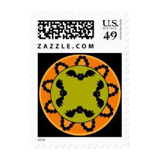 Halloween Paisley Bat Postage Stamp