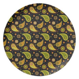 Halloween Paisley Plate