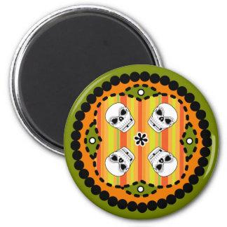 Halloween Paisley Skull Magnet