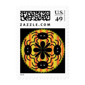 Halloween Paisley Spider Postage Stamp
