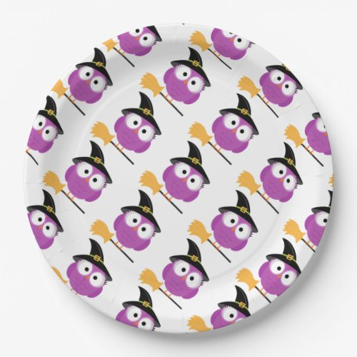 Halloween Paper Plates/Owl with Witch's Hat and Br Paper Plate