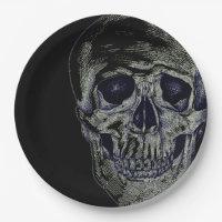 Halloween Paper Plates-Skull Paper Plate