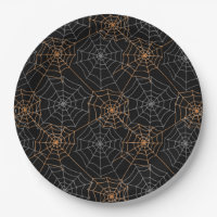 Halloween Paper Plates-Spider Webs Paper Plate