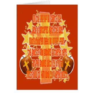 Halloween para los cristianos (poema) tarjetas