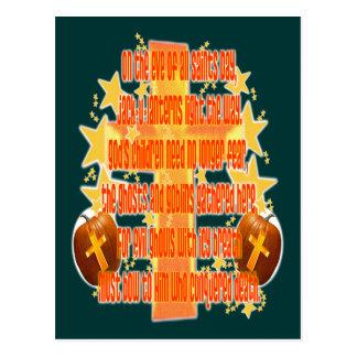 Halloween para los cristianos (poema) tarjetas postales