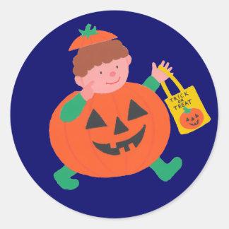 Halloween para los niños pegatina redonda