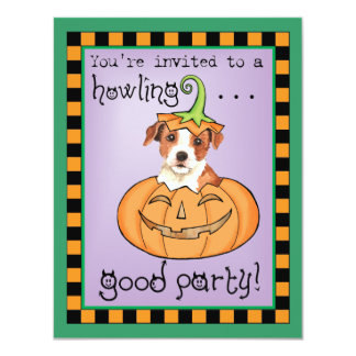 Halloween Parson Russell Terrier Personalized Invitations