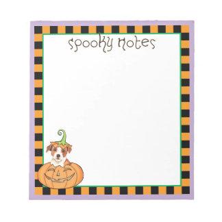 Halloween Parson Russell Terrier Notepad