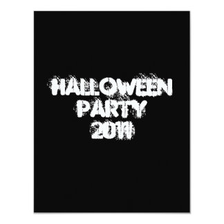 Halloween Party 2011. Black and White. Custom 4.25x5.5 Paper Invitation Card
