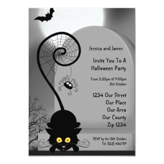 Halloween Party 4.5x6.25 Paper Invitation Card