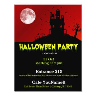 "Halloween party 8.5"" x 11"" flyer"