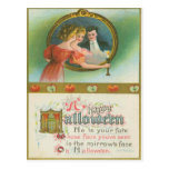 Halloween Party Apples Divination Vintage Postcards