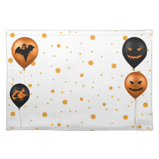 Halloween Party Balloons - Cloth Placemat