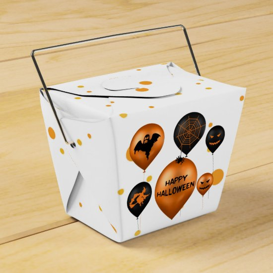 Halloween Party Balloons - Favor Box Take Out