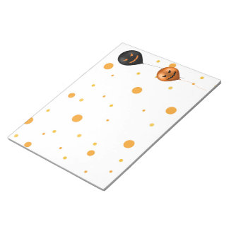 Halloween Party Balloons - Notepad