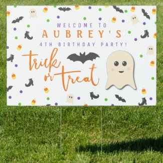 Halloween Party | Birthday Party Welcome Sign