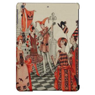 Halloween Party Black Cat Owl Bat Art Deco Cover For iPad Air
