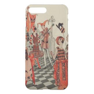 Halloween Party Black Cat Owl Bat Art Deco iPhone 7 Plus Case