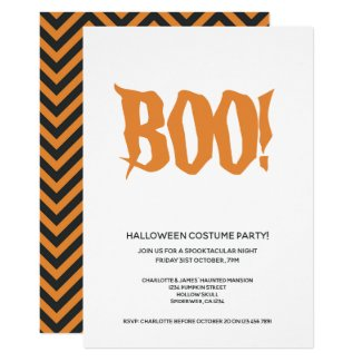 Halloween Party Boo Personalized Spooktacular Invitation