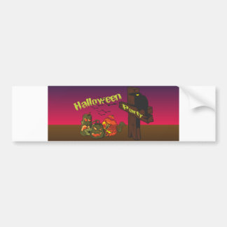Halloween party bumper stickers