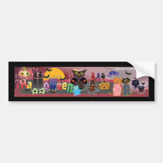 Halloween Party Bumper Sticker