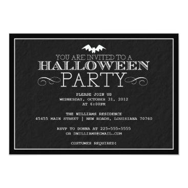 fancyfrights Halloween Party Card