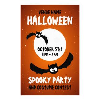 Halloween Party - Cartoon Bats flyer