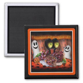 Halloween Party Centerpiece. 2 Inch Square Magnet