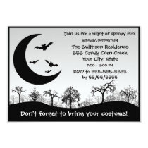Halloween Party Costume Contest Black and White Invitation