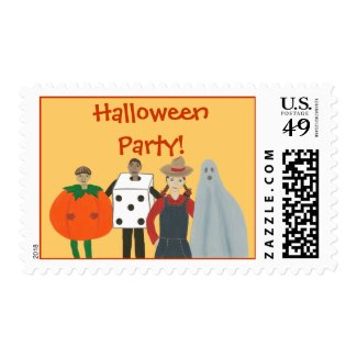 Halloween Party Costume postage stamps