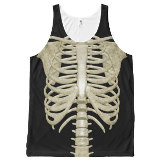 Halloween Party Costume Skeleton Tank Top