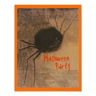Halloween Party Creepy Spider Party Invitations