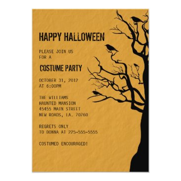 fancyfrights Halloween Party | Crows Card