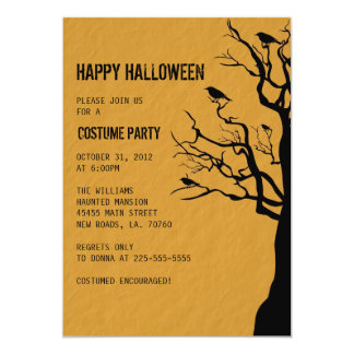 Halloween Party | Crows 5x7 Paper Invitation Card