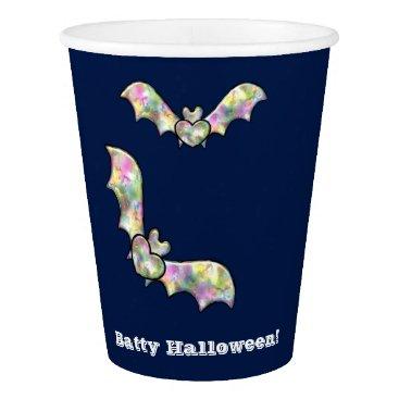 Halloween Themed Halloween Party Cups Bat and Heart Batty Halloween