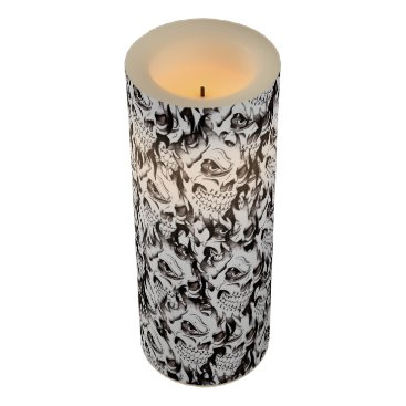 Halloween Themed Halloween party decor LED candles, spooky skulls Flameless Candle