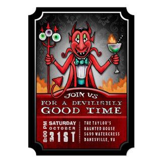 Halloween Party Devilish Good Time Fun Invitation