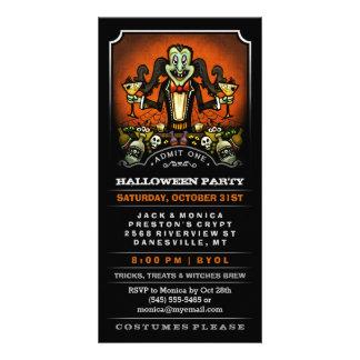 Halloween Party Dracula Fun Invite Ticket