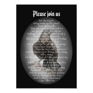 halloween party edgar allan poe raven poem invitation