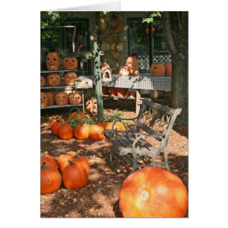 Halloween Party Fall Festival Autumn Party Greeting Card