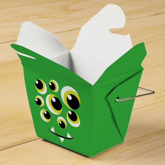 Halloween Party Favor Box - Googly Eyes Monster