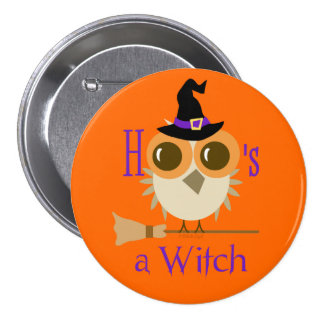 Halloween Party Favors Cute Witch Hoo Owl Gifts 3 Inch Round Button