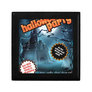 Halloween Party Flyer Poster Trinket Box