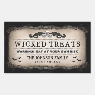 Halloween Party Food or Drink Black & Brown Label