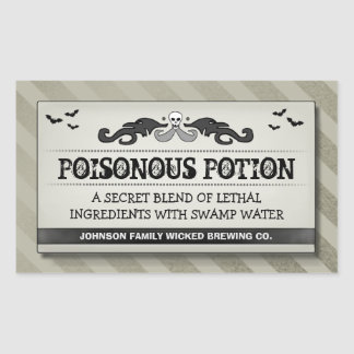Halloween Party Food or Drink Light Tan Label