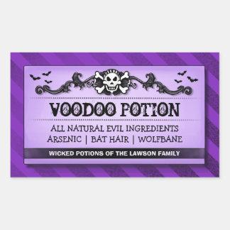 Halloween Party Food or Drink Purple Stripe Label