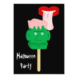 Halloween Party Frankenstein Iceblock Invitation