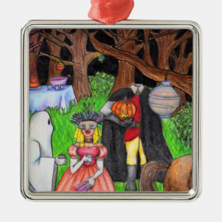 Halloween Party Ghost Headless Horseman Metal Ornament